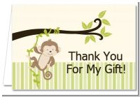 Monkey Neutral - Baby Shower Thank You Cards