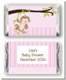 Monkey Girl - Personalized Baby Shower Mini Candy Bar Wrappers