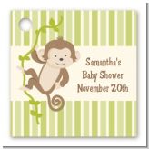 Monkey Neutral - Personalized Baby Shower Card Stock Favor Tags