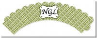 Modern Thatch Green - Personalized Everyday Party Cupcake Wrappers