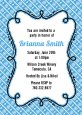 Modern Thatch Blue - Personalized Everyday Party Invitations thumbnail