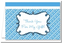 Modern Thatch Blue - Personalized Everyday Party Thank You Cards