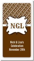 Modern Thatch Brown - Personalized Everyday Party Rectangle Sticker/Labels