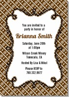Modern Thatch Brown - Personalized Everyday Party Invitations