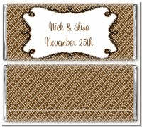 Modern Thatch Brown - Personalized Everyday Party Candy Bar Wrappers