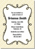 Modern Thatch Cream - Personalized Everyday Party Invitations