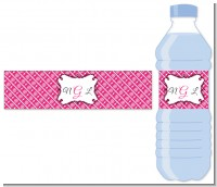Modern Thatch Fuschia - Personalized Everyday Party Water Bottle Labels
