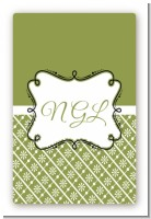 Modern Thatch Green - Personalized Everyday Party Large Rectangle Sticker/Labels
