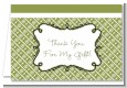 Modern Thatch Green - Personalized Everyday Party Thank You Cards thumbnail