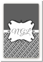 Modern Thatch Grey - Personalized Everyday Party Large Rectangle Sticker/Labels