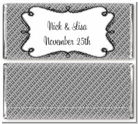 Modern Thatch Grey - Personalized Everyday Party Candy Bar Wrappers
