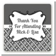 Modern Thatch Grey - Personalized Everyday Party Square Sticker Labels thumbnail