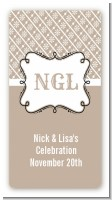 Modern Thatch Latte - Personalized Everyday Party Rectangle Sticker/Labels