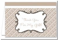 Modern Thatch Latte - Personalized Everyday Party Thank You Cards