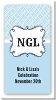Modern Thatch Light Blue - Personalized Everyday Party Rectangle Sticker/Labels
