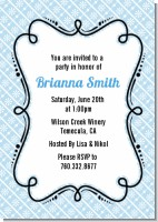 Modern Thatch Light Blue - Personalized Everyday Party Invitations
