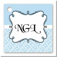 Modern Thatch Light Blue - Personalized Everyday Party Card Stock Favor Tags