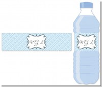 Modern Thatch Light Blue - Personalized Everyday Party Water Bottle Labels