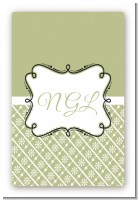 Modern Thatch Olive - Personalized Everyday Party Large Rectangle Sticker/Labels