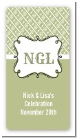 Modern Thatch Olive - Personalized Everyday Party Rectangle Sticker/Labels