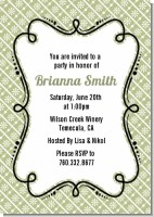 Modern Thatch Olive - Personalized Everyday Party Invitations