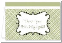 Modern Thatch Olive - Personalized Everyday Party Thank You Cards