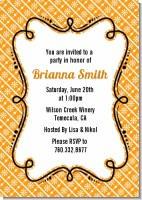 Modern Thatch Orange - Personalized Everyday Party Invitations