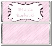 Modern Thatch Pink - Personalized Everyday Party Candy Bar Wrappers