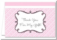 Modern Thatch Pink - Personalized Everyday Party Thank You Cards