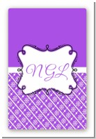 Modern Thatch Purple - Personalized Everyday Party Large Rectangle Sticker/Labels