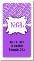 Modern Thatch Purple - Personalized Everyday Party Rectangle Sticker/Labels