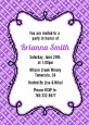 Modern Thatch Purple - Personalized Everyday Party Invitations thumbnail