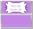 Modern Thatch Purple - Personalized Everyday Party Candy Bar Wrappers thumbnail