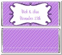 Modern Thatch Purple - Personalized Everyday Party Candy Bar Wrappers