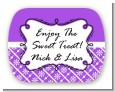 Modern Thatch Purple - Personalized Everyday Party Rounded Corner Stickers thumbnail