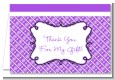 Modern Thatch Purple - Personalized Everyday Party Thank You Cards thumbnail