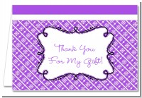 Modern Thatch Purple - Personalized Everyday Party Thank You Cards