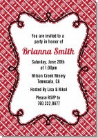 Modern Thatch Red - Personalized Everyday Party Invitations
