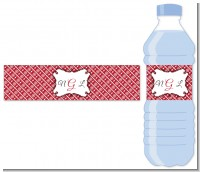 Modern Thatch Red - Personalized Everyday Party Water Bottle Labels