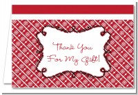 Modern Thatch Red - Personalized Everyday Party Thank You Cards