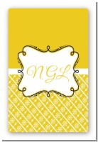 Modern Thatch Yellow - Personalized Everyday Party Large Rectangle Sticker/Labels