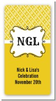 Modern Thatch Yellow - Personalized Everyday Party Rectangle Sticker/Labels