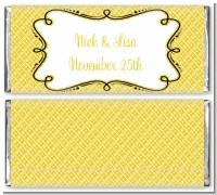 Modern Thatch Yellow - Personalized Everyday Party Candy Bar Wrappers