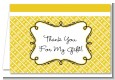 Modern Thatch Yellow - Personalized Everyday Party Thank You Cards thumbnail