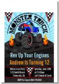 Monster Truck - Birthday Party Petite Invitations