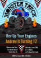 Monster Truck - Birthday Party Invitations thumbnail