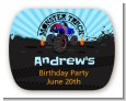 Monster Truck - Personalized Birthday Party Rounded Corner Stickers thumbnail
