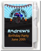 Monster Truck - Birthday Party Personalized Notebook Favor