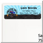 Monster Truck - Birthday Party Return Address Labels