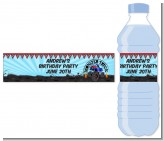 Monster Truck - Personalized Birthday Party Water Bottle Labels